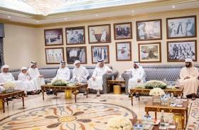 طحنون بن محمد يتبادل التهاني بشهر رمضان مع حامد و عمر و خالد بن زايد