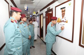 شرطة عجمان تتفاعل مع مبادرة شكرا محمد بن زايد
