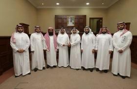 محاكم دبي تستقبل وفداً من المملكة العربية السعودية للاطلاع على أفضل الممارسات في مجال إدارة المعرفة والمحكمة العقارية وشؤون المحامين والخبراء