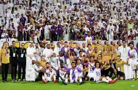 حمدان بن محمد يهنئ محمد بن زايد بفوز نادي العين بلقب دوري الخليج العربي