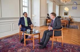 رئيس وزراء الدنمارك يستقبل عبدالله بن زايد