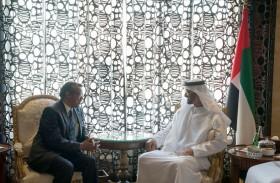 محمد بن زايد يستقبل مدير عام منظمة الصحة العالمية