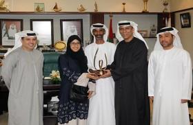 لاعبة منتخب الجودو للشابات ميثة عبدالله تحصل على جائزة محمد بن راشد آل مكتوم للإبداع الرياضي في دورتها التاسعة