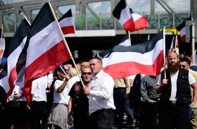 مظاهرات في برلين احتجاجاً على مسيرة للنازيين الجدد