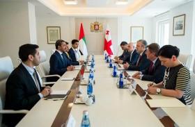 عبدالله بن زايد يلتقي رئيس وزراء جورجيا