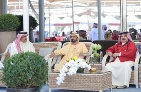 محمد بن راشد وحمد بن عيسى يشهدان كأس ملك البحرين للقدرة