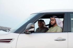 حمدان بن زايد يطلع على مراحل مشروع طريق مدينة زايد - المرفأ بتطوير من دائرة النقل