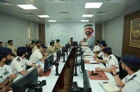 بحث تنفيذ المبادرات المرورية المشتركة بين شرطتي أبوظبي ودبي