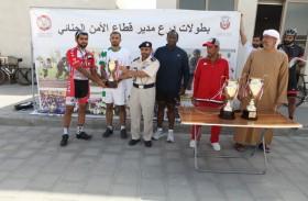 «شرطة الظفرة» بطلاً لسباق الأمن الجنائي للدراجات الهوائية