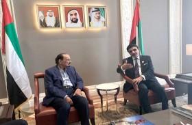 حاكم عجمان يتفقد مبنى سفارة الإمارات الجديد في لندن