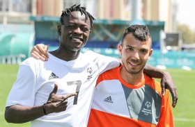 لاجئ سابق يلهم زملاءه في المنتخب الإيطالي لكرة القدم في الأولمبياد الخاص الألعاب العالمية أبوظبي 2019