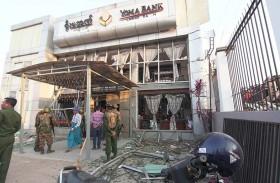 انفجار ثلاث قنابل بشمال غرب ميانمار وإصابة شرطي