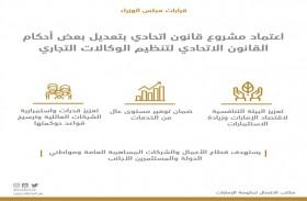 مجلس الوزراء يعتمد مشروع قانون تعديلات القانون الاتحادي الخاص بتنظيم الوكالات التجارية
