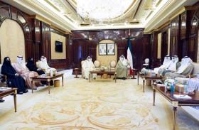 ولي العهد الكويتي يستقبل وفد المجلس الوطني الاتحادي