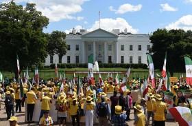 تظاهرة إيرانية في واشنطن تندد بـ«نظام الملالي»