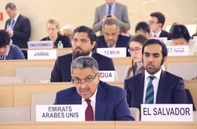 الإمارات تستغرب امتناع بعض الدول عن مناقشة البند السابع ضمن أعمال مجلس حقوق الإنسان