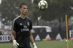 ريال مدريد يعير حارسه الشاب لونين إلى بلد الوليد