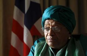 الحزب الحاكم في ليبيريا يفصل الرئيسة المنتهية ولايتها