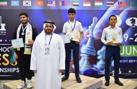 هشام الطاهر يفتتح بطولات آسيا الفردية للشطرنج لطلاب المدارس في طشقند  ويتوج أبطال السريع