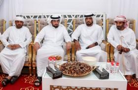 أحمد بن محمد بن راشد يقدم واجب العزاء بوفاة الضعيف بن غدير الكتبي