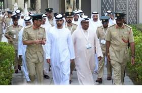 منصور بن محمد بن راشد يفتتح الملتقى الخاص بأنظمة الطائرات بدون طيار