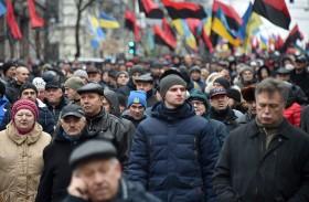 آلاف المتظاهرين في كييف دعما لساكاشفيلي