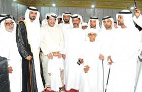 سعيد بن طحنون يحضر أفراح العامري في أبوظبي