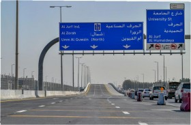 وزارة تطوير البنية التحتية تفتتح جسر مشروع شارع الاتحاد بعجمان أمام حركة المرور