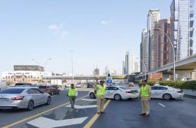 شرطة دبي تدعو لتجنب السرعات وعدم الانشغال بغير الطريق في الأجواء الماطرة