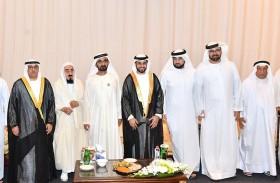 محمد بن راشد يحضر حفل زفاف  نجل محمد سلطان العلماء