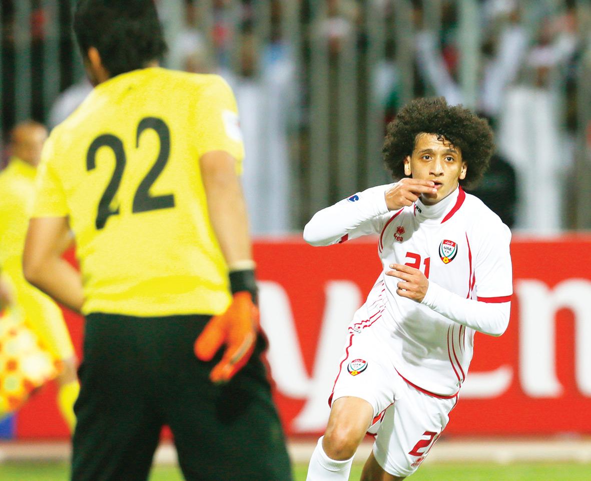 فرحة عمر عبد الرحمن بالهدف الأول