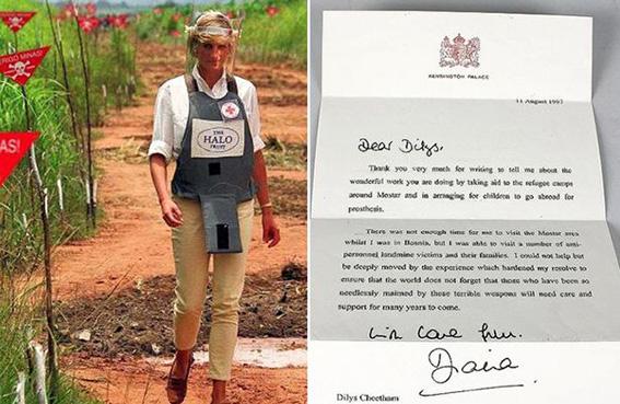 آخر رسالة كتبتها الأميرة ديانا بـ5 آلاف دولار