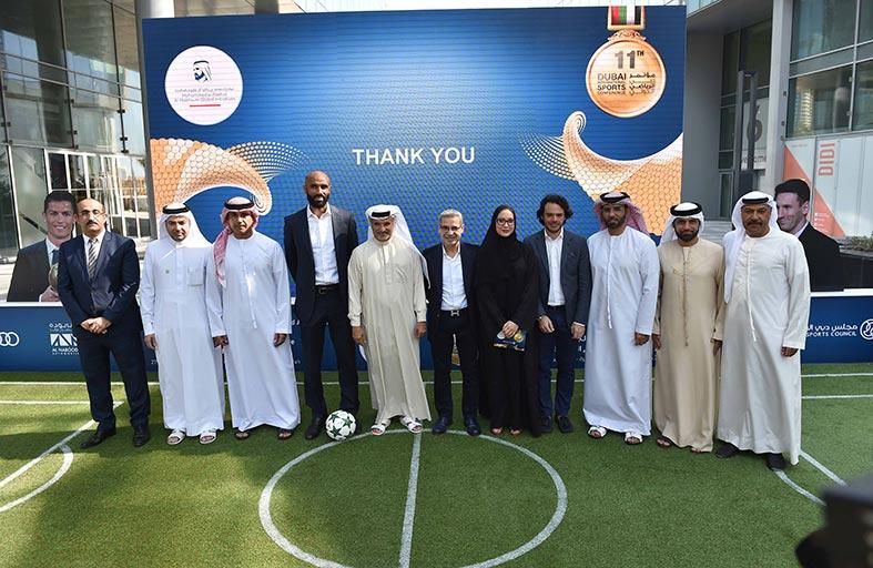 محمد صلاح وايتو وزانيتي في مقدمة نجوم مؤتمر دبي الرياضي الدولي الحادي عشر