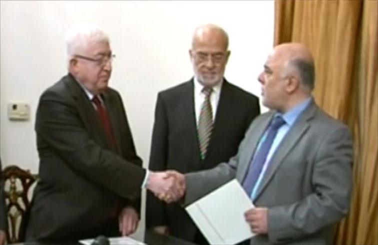 الرئيس العراقي يكلف العبادي تشكيل الحكومة وحلفاء المالكي يعترضون!