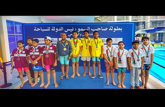سباحو نادي تراث الإمارات يحصدن 21 ميدالية في بطولة رئيس الدولة للسباحة للناشئين والعمومي