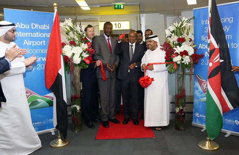 مطار أبوظبي الدولي يستقبل أول رحلة للخطوط الجوية الكينية