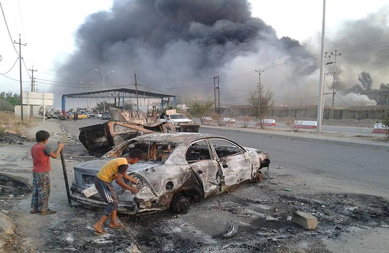 داعش يمهد لمعركة بغداد ويفخر باستعباد الإيزيديات