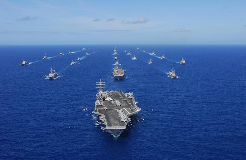 أمريكا واستراليا واليابان تبدأ مناورات عسكرية