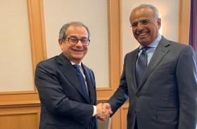 عبيد حميد الطاير يلتقي وزير مالية إيطاليا