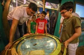 زوار «الشارقة القرائي للطفل» يستكشفون أسرار البحار على متن غواصة «نوتيلوس» الأسطورية