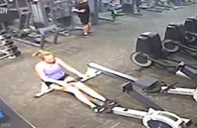 نوبة قلبية تسقط شابة خلال التمرينات