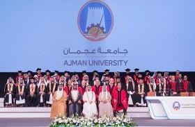 حميد النعيمي يشهد حفل تخريج الفوج الأول من دفعة «عام التسامح» في جامعة عجمان