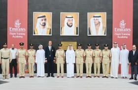 وفد من أكاديمية شرطة دبي يزور أكاديمية الإمارات لتدريب الطيارين