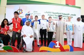 منصور بن محمد يشهد ختام دورة الألعاب الآسيوية البارالمبية للشباب - دبي 2017