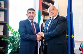 رئيس وزراء بلغاريا يستقبل عبدالله بن زايد