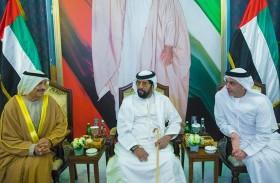 طحنون بن محمد وسيف بن زايد يحضران أفراح الظاهري والخييلي في أبوظبي