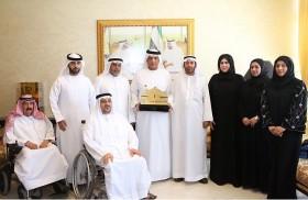 سعود بن صقر يستقبل رئيس وأعضاء مجلس ادارة نادي رأس الخيمة لأصحاب الهمم