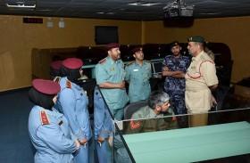 وفد من شرطة الفجيرة يزور مركز القيادة والسيطرة في دبي
