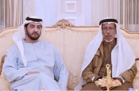 حمدان بن زايد يزور حمد محمد ثاني الرميثي