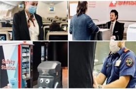 روبوتات لبيع الكمامات للمسافرين